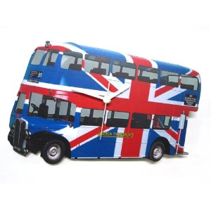 Lark Rise Designs Wooden Clock(クロック)・時計 UNION JACK LONDON BUS LRC32