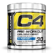 Cellucor C4 Explosive Preworkout Supplement - Icy Blue Razz 30 Servings G4 CHROME SERIES ...