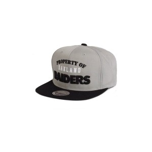 (ミッチェル&ネス)MITCHELL&NESS NHL OAKLAND RAIDERS PRORERTY OF2TONE ZIPBACK SNAPBACK GREY/BLCK オークランド...