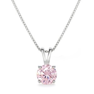 [Gift from New York] 一粒 1.25ct ピンク ネックレス NY限定 デザイナーズ ネックレス ピンク ネックレス