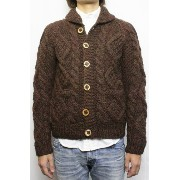 KANATA (カナタ) RED WOOD別注 SOLID CABLE SWEATER (BOURBON) 36