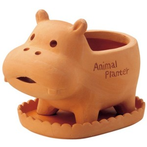 GREEN HOUSE Animal Terracotta Sサイズ カバ 2544-D