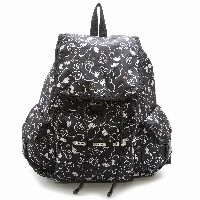 LeSportsac レスポートサック ピーナッツ スヌーピー リュックサック 7839 Voyager Backpack P711 Snoopy Shuffle Black [並行輸入商品]