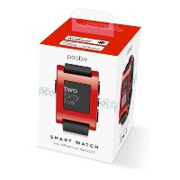 Pebble Smartwatch Red【iPhone & Android対応 スマートウォッチ】並行輸入品