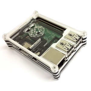 Eleduino Raspberry Pi 2 Model B アクリル ケース ブラック White+Black