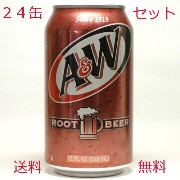 A&W:ルードビア24缶セット沖縄から発送します