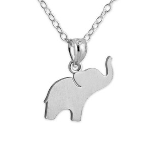 925 Sterling Silver Cute Elephant Charm Pendant