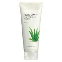 The Face Shop Herb Day Cleansing Cleansing Foam (Aloe) 170ml/Made in Korea