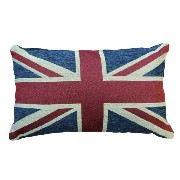 "CUSHION PILLOW ""USA"" ""UK"" クッション ピロー 国旗 星 (45cm×30cm) (Union Jack (UK))"