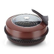 Version Happycall(ハッピーコール) BBQ Smokeless Kitchen Wide Direct Fire Grill Oven Pan for Gas Range...