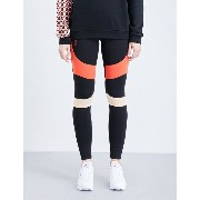 P.E ネーション p.e nation レディース ボトムス レギンス【corner back stretch-jersey leggings】Black