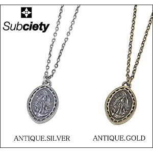 (サブサエティ)Subciety METAL NECKLACE -Guadalupe- ネックレス FREE ANTIQUE.GOLD