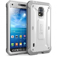 Samsung Galaxy S5 Active Case SUPCASE Unicorn Beetle PRO 衝撃吸収 全面保護 防塵 ハイブリッド ハードケース (White/Gray)