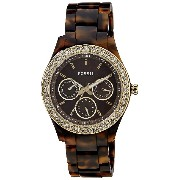 Fossil Women's Plastic Analog with Dial Watch Brown ES2795 [Watch] Fossil