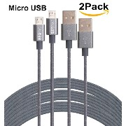 SEGMOI® 3M 10FT Extra Long Tangle Free Nylon Braided High Speed Micro USB Charging Data Sync Cable...