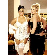 Shirley of Hollywood DS-IA-X9393 Satin Tapestry Jacquard Long-Line Bustier. 44 Ivory