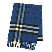 Burberry バーバリー GIANT CHECK CASHMERE SCARF 168X30CM マフラー ブルー GIANT ICON 168 [並行輸入品]