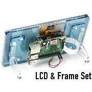 "7""LCD+フレーム ラズベリーパイ 公式 7インチ タッチスクリーン ディスプレイ Raspberry Pi Official 7"" Touch Screen LCD(Blue)"