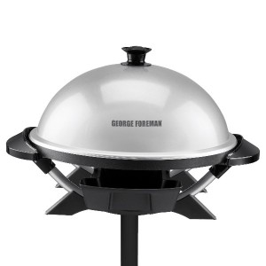 George Foreman ジョージフォアマン GFO200S Indoor/Outdoor Electric Grill, Silver グリル [並行輸入]