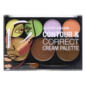 CITY COLOR Contour & Correct Cream Palette - All-In-One (並行輸入品)