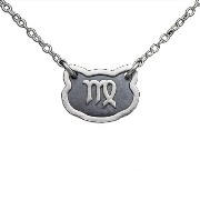 Two-Tone 925 Sterling Silver Belcho Zodiac Virgo Horoscope Necklace (Sterling Silver, 12 Inches)