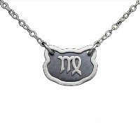 Two-Tone 925 Sterling Silver Belcho Zodiac Virgo Horoscope Necklace (Sterling Silver, 16 Inches)