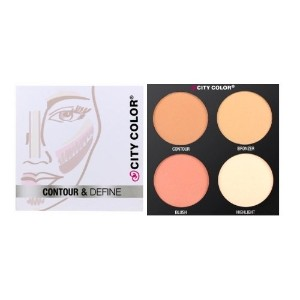 CITY COLOR Contour & Define Palette - 4 Shades (並行輸入品)