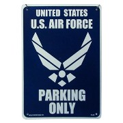 PLASTIC SIGN BOARD Heavy Type Small Size 255×355mm 米空軍専用駐車場 【サインボード】 CA-28