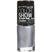 MAYBELLINE COLOR SHOW NAIL LACQUER SHREDDED #50 SILVER STUNNER