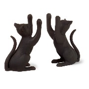 Imax Pair of Playful Iron Cat Bookends [並行輸入品]