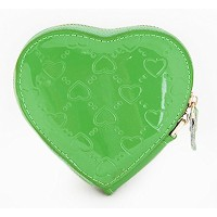 [FROMb]牛革ハートポーチheart coin wallet (グリーン)