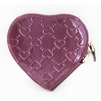 [FROMb]牛革ハートポーチheart coin wallet (パープル)