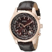 [ゲス] GUESS 腕時計 Men's Luscious Brown Chronograph Watch with Date Function クォーツ U0500G3 メンズ 【並行輸入品】