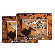 See's(シーズ) オーサム ピーナッツブリトゥル スナックバー2箱 See's Awesome Peanut Brittle Bar 2 Boxes【並行輸入品】