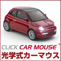 CLICK CAR MOUSE クリックカーマウス Fiat 500 new (フィアット 500 ニュー) レッド 光学式ワイヤレスマウス
