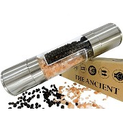 The Ancient Salt and Pepper Grinder Set - Professional Two in One Stainless Steel Mill - Grind from...