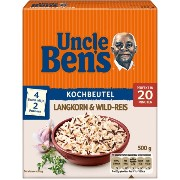 Uncle Ben'sR - おじさんBensR - Reis-Spezialitaten Langkorn & Wild-Reis Kochbeutel 500 g - 17,64 oz -...