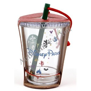 Disney Parks Exclusive Starbucks Clear Cold Cup with Straw 3 Christmas Tree Ornament by Disney