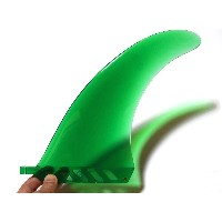 """saruSURF センターフィン Safety Flex Soft (ソフトフレックス)8"""" for ロングボード / SUP / airSUP - Green"""