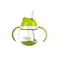 mOmma Cup with Straw and Dual Handles 250 ml (Green)