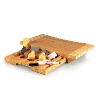 Picnic Time Concavo Bamboo Cheese Board and Cheese Tool Set by Picnic Time
