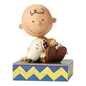 enesco PEANUTS DESIGNS BY JIM SHORE フィギュア チャーリーブラウン Holding Snoopy #4049397 4049397