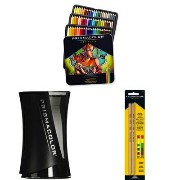 Prismacolor プリズマカラー スターターキット 色鉛筆 72色 ブレンダー シャープナー Colored Pencils, Soft Core, 72 Pack with Pencil...
