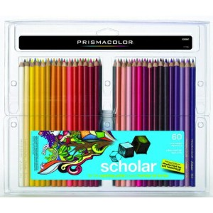Prismacolor プリズマカラー 最高級色鉛筆 58色 60本 ビギナー用 簡易パッケージ Prismacolor Scholar Colored Pencils, 60-Count...