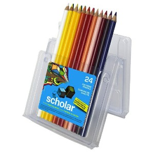 Prismacolor プリズマカラー 最高級色鉛筆 24色 ビギナー用 簡易パッケージ Prismacolor Scholar Colored Pencils, 24-Count 92805