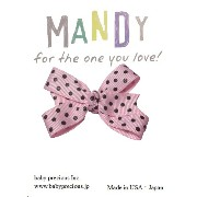 MANDY Baby Bows Light Pink with Brown Dot