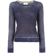 Allude faded effect jumper