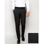 ASOS エイソス Skinny スキニー Smart Pants in Charcoal