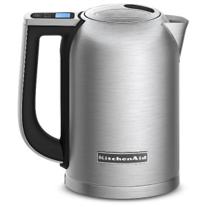 【並行輸入】KitchenAid キッチンエイド KEK1722SX 1.7-Liter Electric Kettle with LED Display - Brushed Stainless...