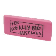 Present Time Silly For Big Mistakes Eraser by Present Time